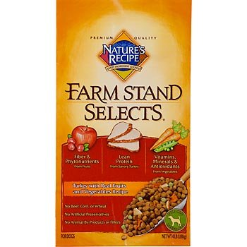 Nature's Recipe Farm Stand Selects with Turkey, Fruits, and Vegetables Dry Dog Food, 4-Pound, My Pet Supplies