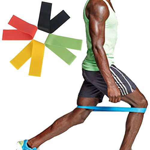 Best Resistance Bands Loop Set / Resistance Bands For Legs / Exercise Bands For Legs / Physical Therapy Bands / Great Equipment For Your CrossFit Workout / Perfect Travel Buddy for Men & Women