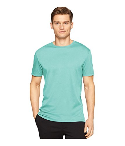 - Calvin Klein Men's Jersey with Rib Side Inserts Tee, Leeward Blue, Small