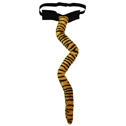[SeasonsTrading Long Plush Tiger Tail Costume Accessory ~ Halloween Party] (Fun Cheap Easy Halloween Costumes)