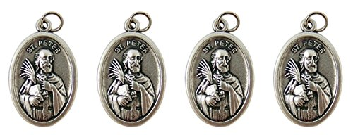 Silver Tone Patron St Peter and Paul Medal, Pack of - Tone Medallion