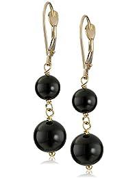 14k Yellow Gold Gemstone Drop Earrings