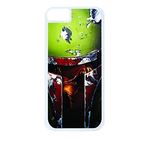 Boba Fett Reflection- Hard White Plastic Snap - On Case with Soft Black Rubber Lining-Apple Iphone 4 - 4s - Great Quality!