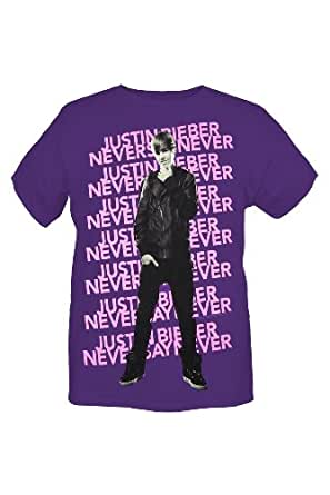 Amazon.com: Justin Bieber Never Say Never Purple T-Shirt ... - photo #12