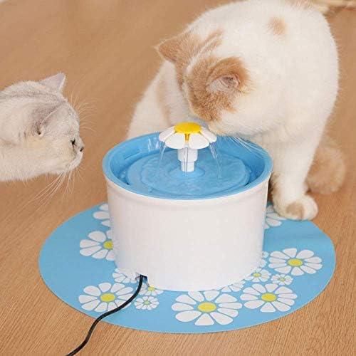 ペットの噴水猫の滝の花のスタイルの噴水、犬猫の水の噴水、自動循環水の噴水、猫の水ディスペンサー携帯水盆地の酒飲み,Blue