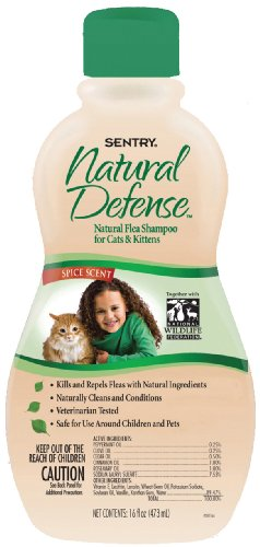Sentry Natural Defense Flea Shampoo Cat 16-Ounce