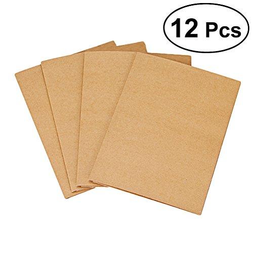 (NUOLUX 12Pcs A4 Kraft Paper File Folder Brown Card Folder 2 Pockets Document Folder Office Project File Presentation Folder)