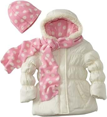 Pink Platinum Little Girls'  Polka Dot Jacket, Cream, 4