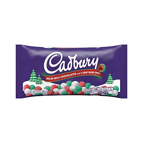 Cadbury Holiday Candy Coated Solid Milk Chocolates, 10-Ounce Bag (Pack of 4) (Cadbury Eggs Christmas Mini)