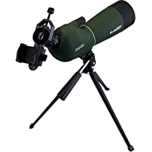 SVBONY Waterproof Angled 25-75x70mm Zoom Spotting Scope + Universal Cell Phone Adapter