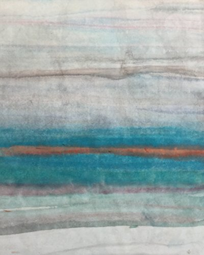Coastal Horizons  4  Wall D Cor Art Landscape Painting Original Handmade Print Turquoise Blue White Modern Artwork For The Home Or Office Contemporary Picture Gift 8 X 10 Ready To Hang Cradled Panel
