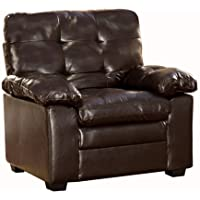 Homelegance Charley 9715PU-1 Bi-Cast Vinyl Chair, Dark Brown
