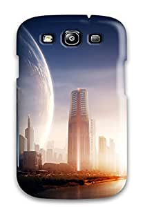 New Snap-on CaseyKBrown Skin Case Cover Compatible With Galaxy S3- Metro City Eve