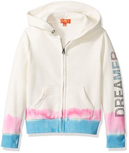 (Butter Girls' Big Hem Dip Fleece Zip Hoodie, Buttercream L)