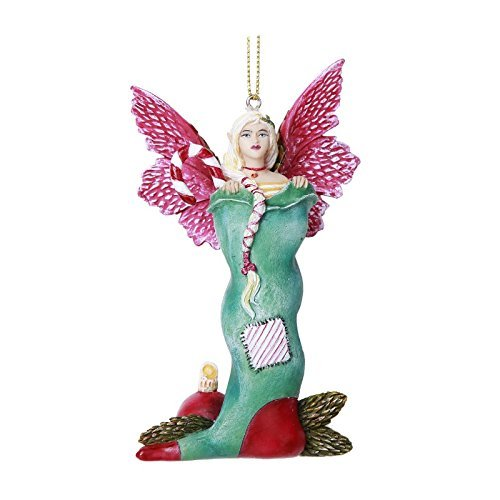 - Pacific Giftware Stocking Stuffer Fairy Hanging Ornament Amy Brown Holiday Collection Christmas Tree Hanging Ornaments 4 inch