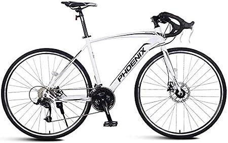 PLYY Adulto Bicicleta De Carretera, Hombres Bicicleta De Carreras con Doble Freno De Disco, Marco De Acero De Carbono De Alta Camino De La Bicicleta, Ciudad De Utilidad Bicicletas: Amazon.es: Hogar