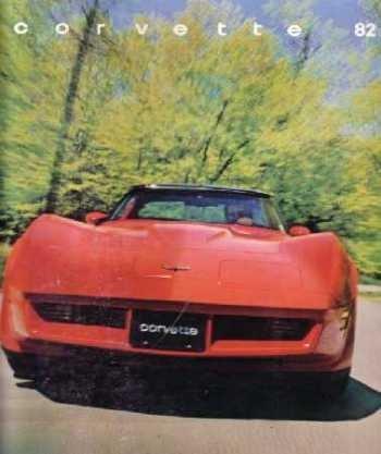 1982 Chevrolet Corvette Sales Brochure Literature Book Piece Specs Options