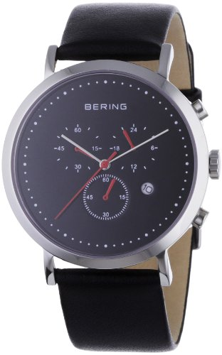 BERING Time 10540-402 Men's Classic Collection Watch with Leather Band and scratch resistant sapphire crystal. Designed in Denmark.