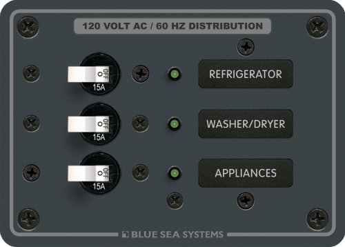 Blue Sea Systems AC 3 (3 Position Circuit Breaker Panel)