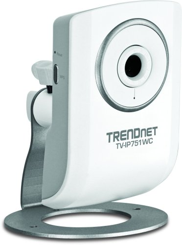 TRENDnet Wireless N Network Cloud Surveillance Camera with 1-Way Audio, TV-IP751WC (White) (Vista Wireless Trendnet)