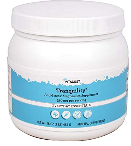 Vitacost Natural Tranquility Magnesium Supplement — 350 mg per serving – 16 oz (454 g) For Sale
