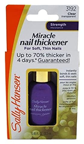 Sally Hansen Miracle Nail Thickener 0.45 Ounce (13ml) (3 Pack)