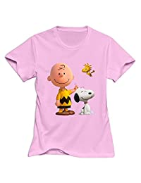 StaBe Women Peanuts Movie 2015 Snoopy T-Shirt Unique XL Pink