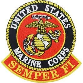 - USMC Logo, Semper FI - Embroidered Patches, Iron On Patch - 3