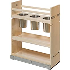 Kitchen Century Components CASCAN85PF Kitchen Base Cabinet Pull-Out Canister Organizer – 8-7/8″W x 26-3/4″H x 21-1/2″D – Baltic Birch – Blum Soft Close Slides pull-out organizers