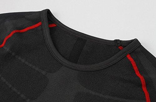 Base Séchage Acme Layer Manches Ball Course Fitness T Rouge Compression Bicycle Gym shirt Basket Pour Courtes Running Rapide Noir De Respirant Homme grFq4gU0