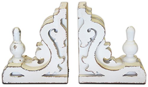 White Distressed Bookends | by Urban Legacy