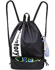 Drawstring Backpack String Bag Gym Sack Sackpack Gymsack Draw Swimming Swim Wrestling Athletic Sports Gymnastics Snorkel Men Women