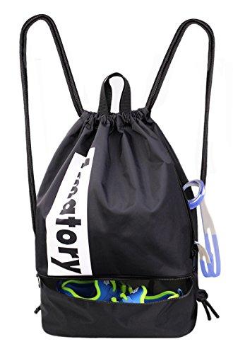 b88099709ebe Drawstring Backpack Sports Athletic Gym String Bag Sackpack Gymsack Cinch  Sack