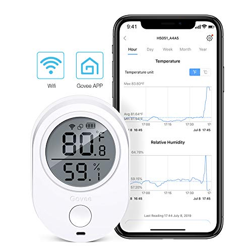 - Temperature Humidity Monitor, Govee WiFi Digital Indoor Hygrometer Thermometer, Wireless Temperature Humidity Sensor with Alerts. Smart Humidity Gauge for Home, House, Garage and Wine