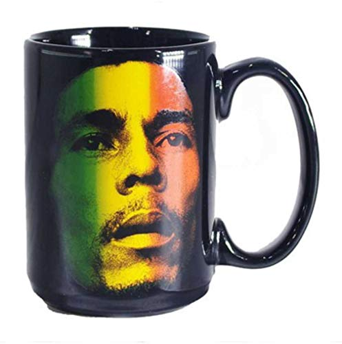(Official Bob Marley Gradient Rasta Face Ceramic Coffee Mug)