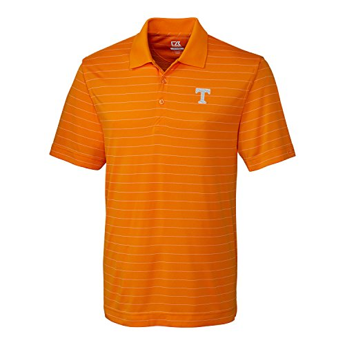 (NCAA Tennessee Volunteers Men's CB Dry Tec Franklin Stripe Polo,X-Large,Orange Burst)
