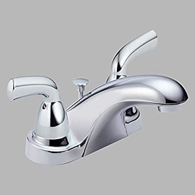 Delta B2510LF Core-B Double Handle Centerset Bathroom Sink Faucet