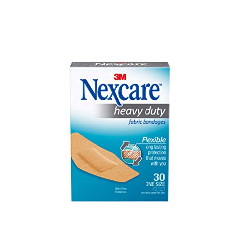 Nexcare Heavy Duty Flexible Fabric Bandages, One