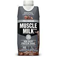 Muscle Milk Pro Series Protein Shake, Knockout Chocolate, 32g Protein, 11 Fl Oz, 12 Pack