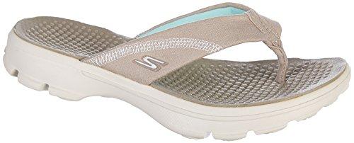 Skechers Performance Go Walk-Nestle Women's Sandal 9 B(M) US Natural (Skecher Go Walk Sandals For Women)