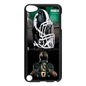 Sport4 NCAA Team Michigan State Spartans Print Black Case With Hard Shell Cover for iPod Touch 5th