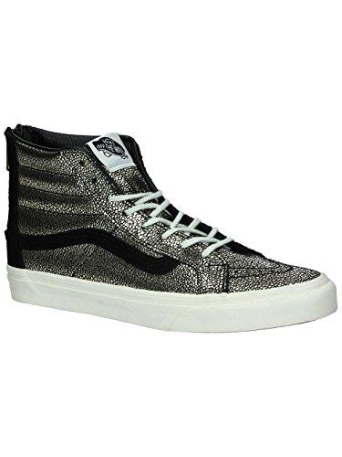 Vans Womens SK8-HI Slim Zip Gold Dots Sneaker Gold/Blanc De Blanc Size 7.5 by Vans