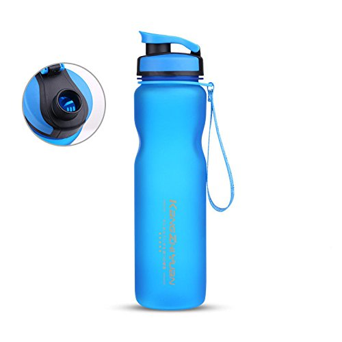 Blue Halloween Plastic Water Bottle Frosted Drinking Cup For Camping Bike 1000Ml by Travel Mugs