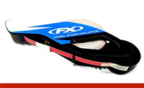 "CaliBikerClub Reflective Red Rim Tape Rim Wheel Stripes w/Easy Applicator for 16"" 17"" 18"" Motorcycle Car Truck Wheels"