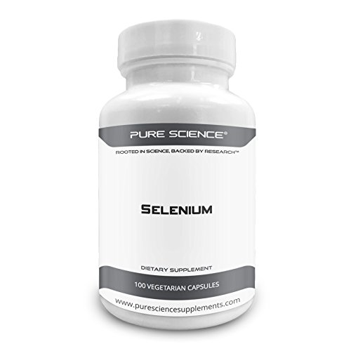 Pure Science Selenium 300mcg – Selenium Supplements Boost Immunity & Antioxidant Level, Improve Blood Flow & Coronary Health, Regulate Mood & Thyroid Function – 100 Vegetarian Capsules