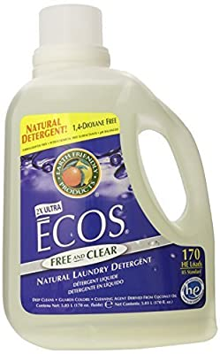 Earth Friendly Products Ecos Liquid Laundry Detergent, Free and Clear, 170 Ounce