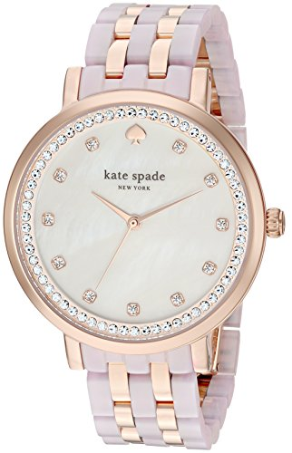 kate spade new york Women's KSW1264 Monterey Analog Display Japanese Quartz Rose Gold Watch ()