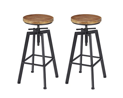 Retro Adjustable Bar Stools - 1