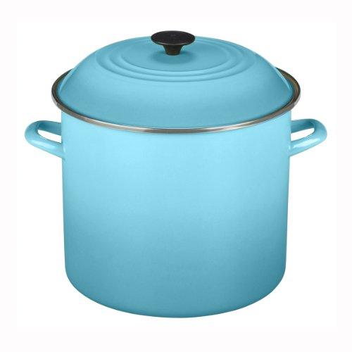 Enamel On Steel Stock Pot Color: Caribbean, Size: 16 Qt. by Le Creuset