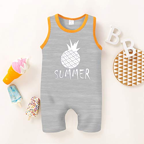 YOUNGER TREE Toddler Baby Boy Girl Romper Summer Sleeveless Jumpsuit Clothes Set